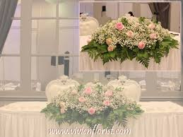 baby breath centerpieces table arrangement with roses baby s breath and greenery