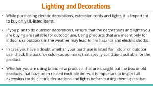 Outdoor Christmas Decorations Safety by Electrical Safety Measures For Christmas Decorations