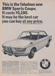 bmw bavarian motors 1966 bmw sports coupe car ad bavarian motor works by advintagecom