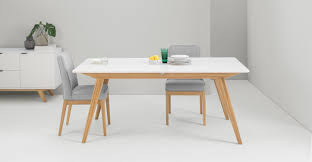 White And Oak Dining Table Aveiro Extending Dining Table Oak And White From Made