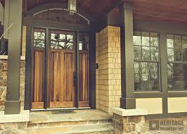 poplar torrefied exterior entry door heritage millwork inc