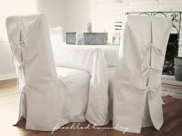 Dining Chair Slipcovers Custom Chair Slipcovers Ribbons And Inspiration
