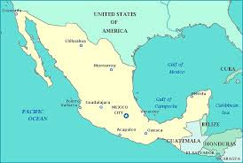 map of mexuco map of mexico and america major tourist attractions maps