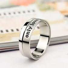 cheap promise rings for men engraved spinning rings for boyfriend cheap promise rings for men