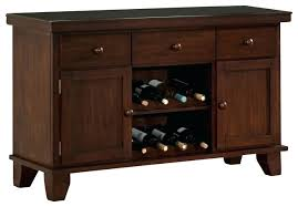 Servers Buffets Sideboards Wine Rack Homelegance Amellia Server With 2 Wine Racks Dark Oak
