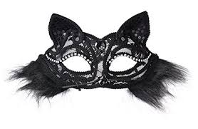 cat masquerade mask cat masquerade mask with black lace cat ears import it all