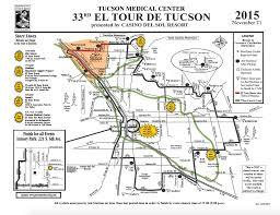 Map Of Tucson El Tour De Tucson To Draw 8 000 Bicyclists Downtown Azpm