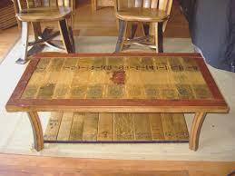 oak barrel end table whiskey barrel table white oak whiskey