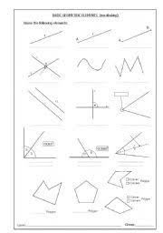 lines rays and line segments worksheets worksheets vocabulary basic elements of geometry