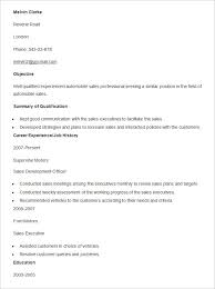 Automotive Resume Examples by Automobile Resume Templates Free Word Pdf Documents Creative