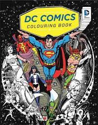 dc comics colouring book waterstones