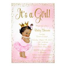 baby shower cards pink gold american princess baby shower card zazzle