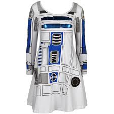 r2d2 halloween costumes amazon com star wars i am r2 d2 long sleeved skater dress clothing