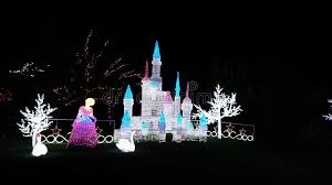 christmas light show cinderella and castle editorial stock image