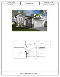 bi level plans with garage dmd home plans