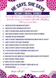 who said it bridal shower he said she said bridal shower rachael s retro bridal