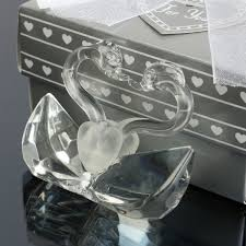 crystal swans baby shower favor boy swan gift party