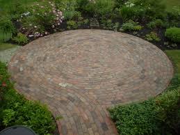 circular brick patio designs with remarkable small brick patio
