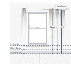 Curtain Size Calculator Curtain Measuring Guide Interiors Inspiration U0026 Advice Jane Clayton