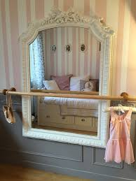 ballerina girl bedroom makeover reveal ballerina budgeting and diy dance space for girls bedroom shabby chic mirror with ballet barre vintagelook