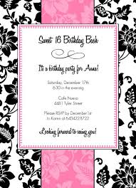 pink and black party invitations ins ssrenterprises co