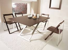 dining room space saving dining table and chairs space saver