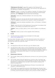 free software maintenance agreement docular