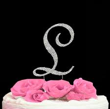 l cake topper cake initial toppers letter cake topper l cake initial toppers