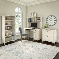 salinas mission desk with hutch lateral file cabinet and 5 shelf