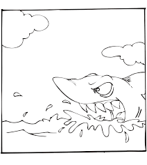 sharks coloring pages shark coloring page on surface of water unit studies sharks
