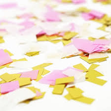 shredded mylar pink white metallic gold foil shredded confetti paper party