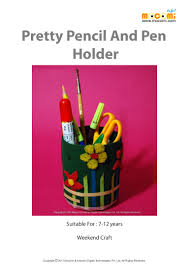 how to make pretty pencil and pen holder mocomi kids