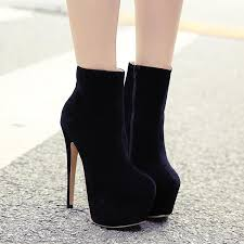 womens size 12 black ankle boots 16cm ultra high heel ankle boots black patent leather boots