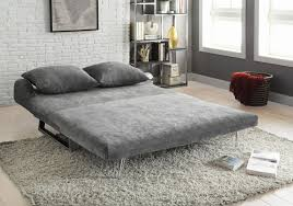 coaster tabby 551074 grey velvet fold out futon with metal frame