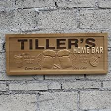 Personalized Home Decor Signs Amazon Com Wpa0053 Name Personalized Home Bar Wooden 3d Engraved