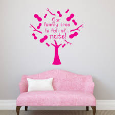 compare prices on family tree wall decal online shopping buy low high quality quote wall decal our family tree is full of nuts funny vinyl wall stickers