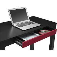 Auto Laptop Desk by Parsons Desk With Colored Drawer Multiple Colors Walmart Com