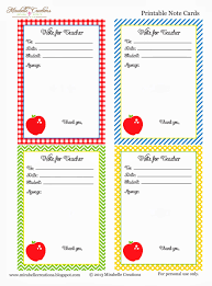 back to school free printable note for cards