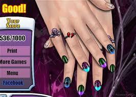 emo nail design game
