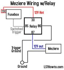 meziere water pump relay wiring confirmation camaroz28 com
