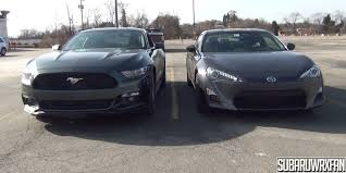 mustang size size comparison 2015 mustang and scion fr s