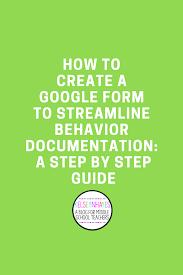 Abbreviation For Bathroom How To Create A Google Form To Help Streamline Behavior