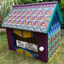 another little free library set to open it u0027s tiny door in