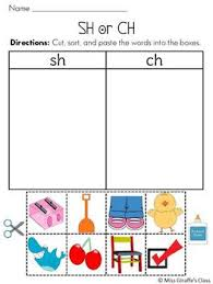 five digraph picture sorting cut and paste activities to help your