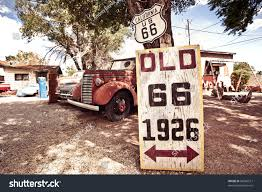 old rusty cars old route 66 signs rusty cars stock photo 98506517 shutterstock