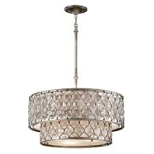 Silver Chandelier Feiss Lucia Two Tier Chandelier In Burnished Silver