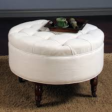 round leather tufted ottoman furniture white tufted round ottoman coffee table for contemporary