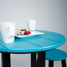 Teal Dining Table by Polywood Contempo 24 Inch Dining Table Contempo Polywood