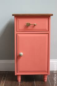 Pink Tool Box Dresser by Furniture Makeover Refinished Nightstand Toolbox Divas