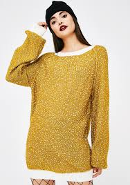 yellow sweater dress spotted sweater dress dolls kill